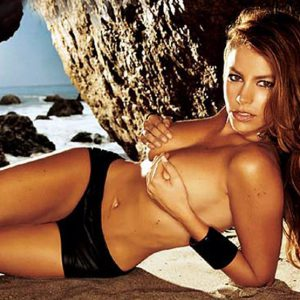 topless sofia vergara grabbing her tits topless on beach