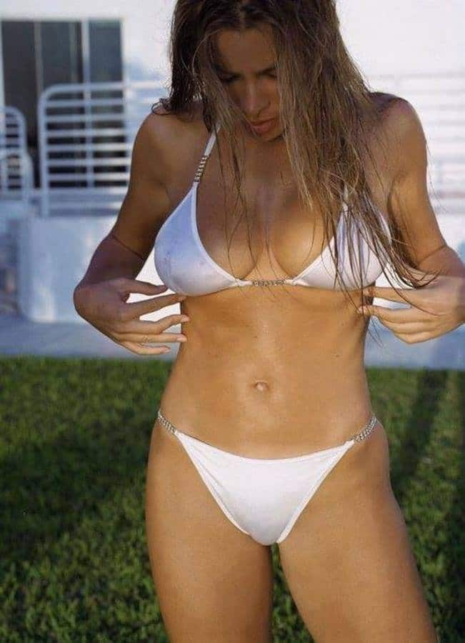 yummy pic of sofia vergara in white bikini see through nipples visible