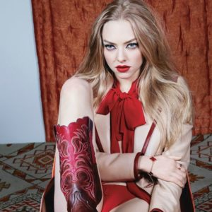 sexy pic of amanda seyfried with cowboy boots on looking delicious in W magazine shoot