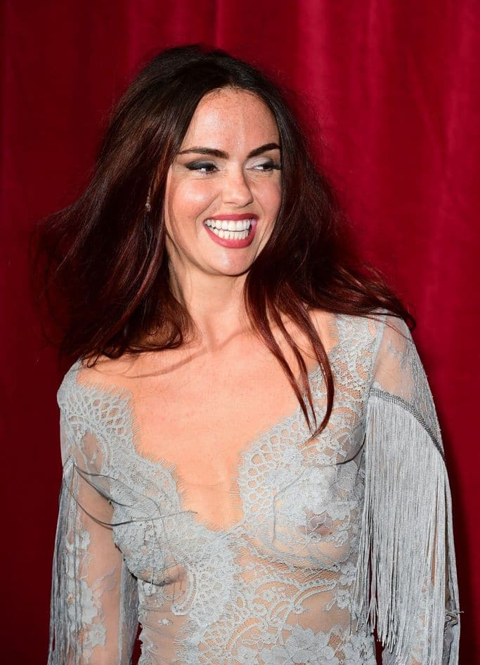 Jennifer Metcalfe's nipples showing through dress