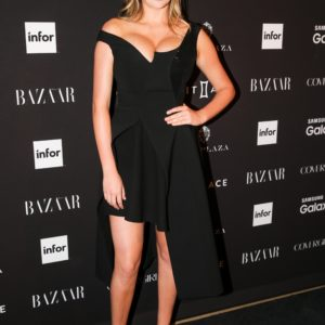 Kate Upton black dress