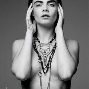 Cara Delevingne tits covered