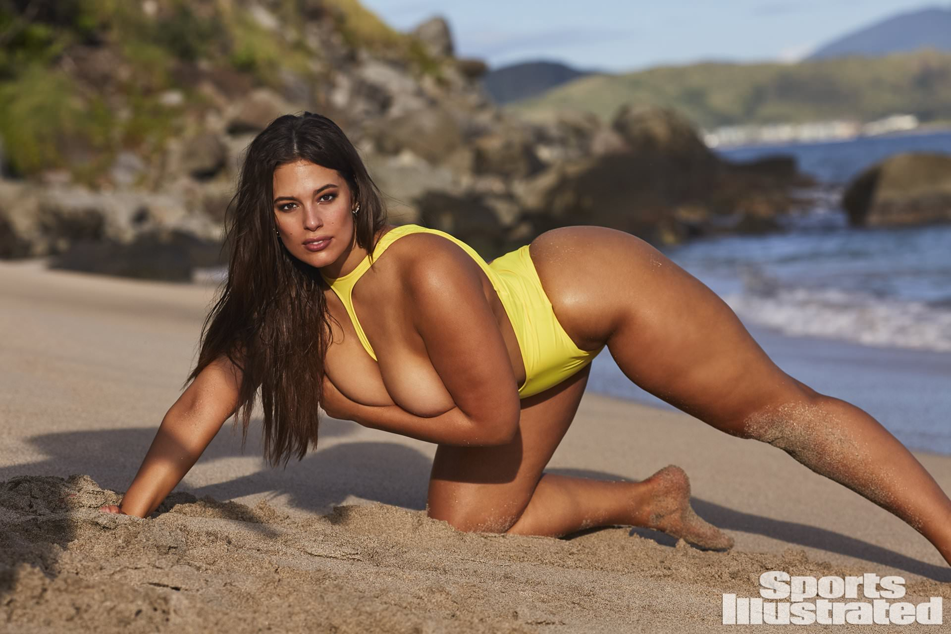 Ashley Graham posing