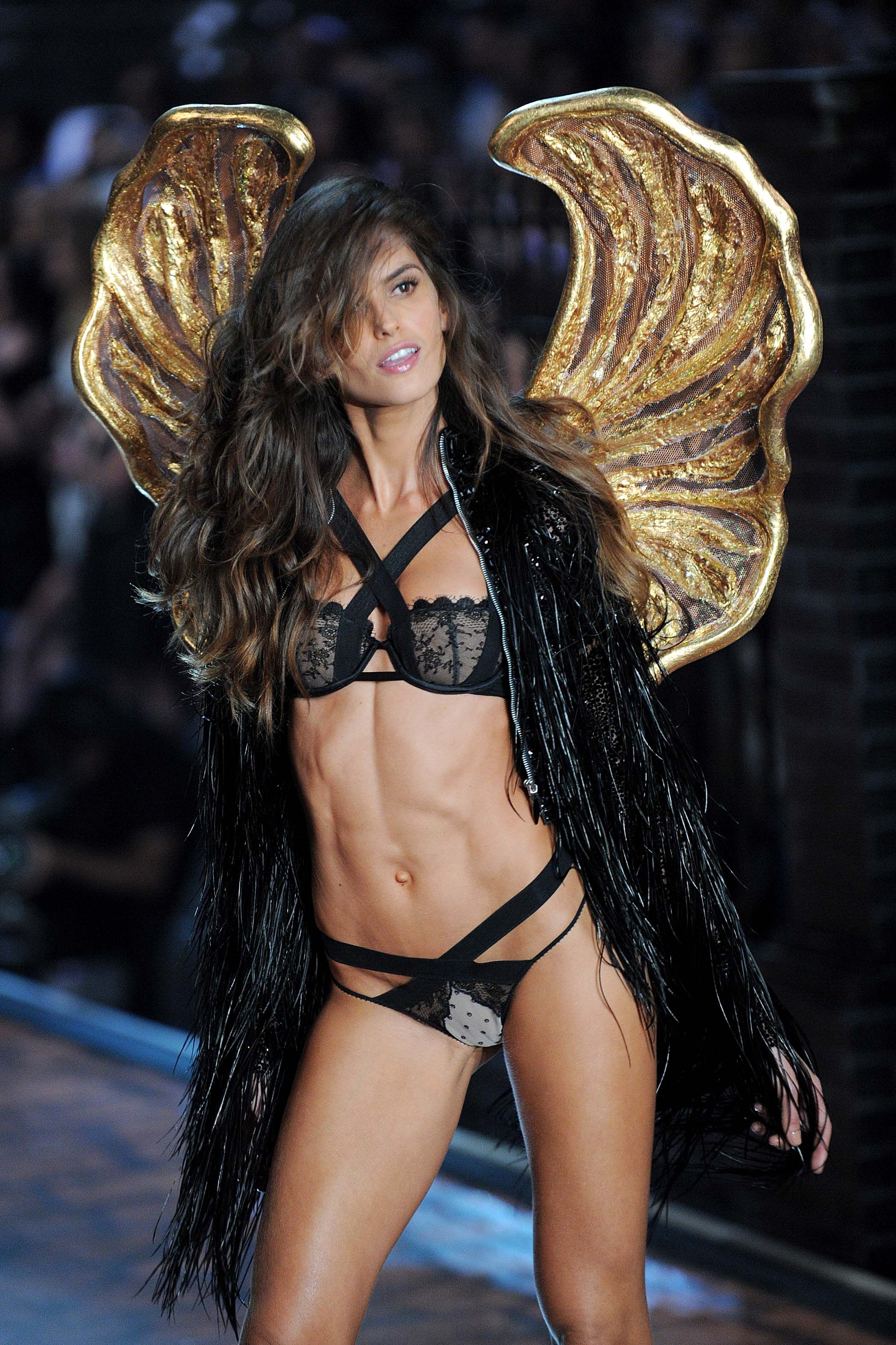 Izabel Goulart wearing wings for the Victoria Secret runway show