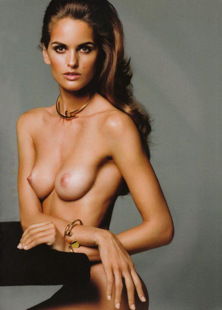 Izabel modeling in a studio naked