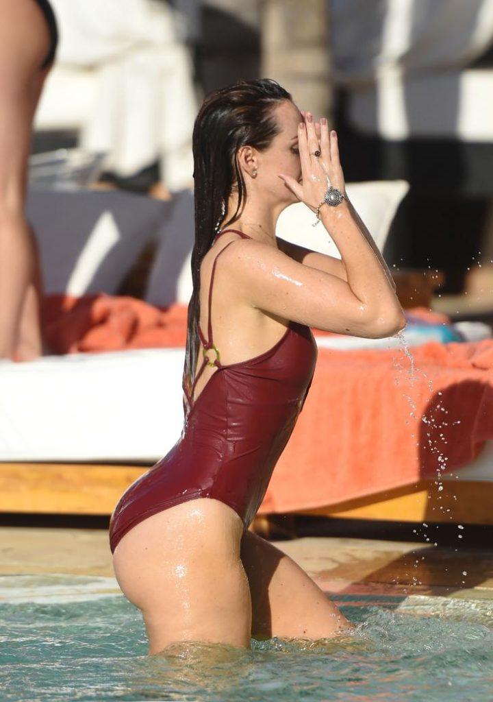 Jennifer Metcalfe in Marrakesh poolside
